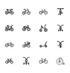 bicycle type icons set vector image