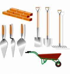 building implements vector image vector image