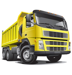 detailed image of large yellow truck isolated vector image vector image