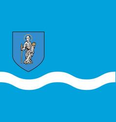 flag of olsztyn in poland vector image vector image