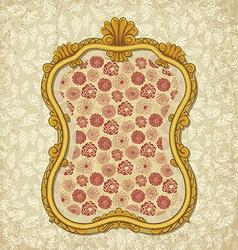 frame floral vector image