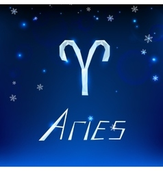 01 Aries horoscope sign vector image vector image