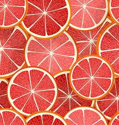 Citrus seamless pattern Grapefruit vector image vector image