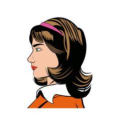 portrait woman beauty character comic style vector image vector image