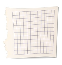 Square paper for math icon vector image