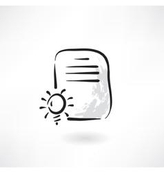 document idea grunge icon vector image vector image