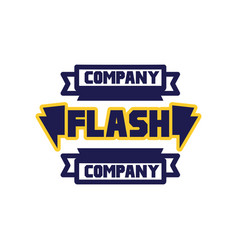 flash company logo template design element for vector image