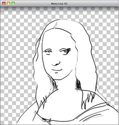 Mona lisa vector