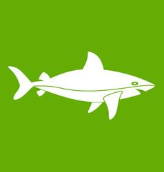shark fish icon green vector image vector image
