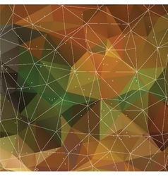 Autumn triangle pattern in dark colors background vector image