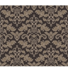 Damask vintage floral background pattern vector image