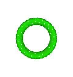 green pool ring with white dots vector image vector image