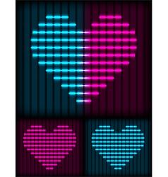 Neon heart background vector