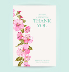 the thank you card vector image
