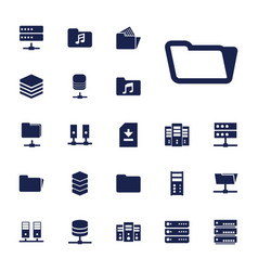 22 archive icons vector