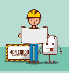 404 error page not found vector