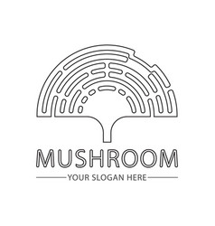 abstract mushroom logo for company vector image