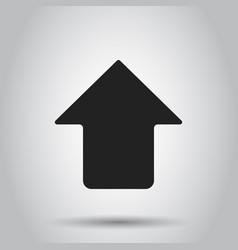 Arrow up icon forward arrow sign business vector