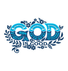 Bible lettering christian vector