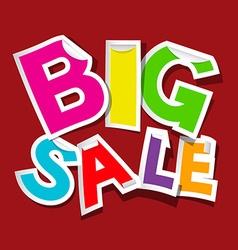 Big Sale Colorful Sticker - Tag vector