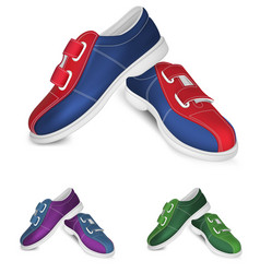 Bowling shoes template vector