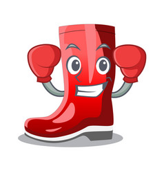 Boxing rubber boots in a agricultural cartoon vector