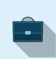 Briefcase icon in flat style vector