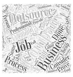 business process outsourcing Word Cloud Concept vector image