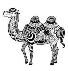 camel zentangle vector image