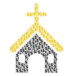 christian church composition of dollar and dots vector image
