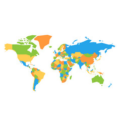 colorful map of world vector image