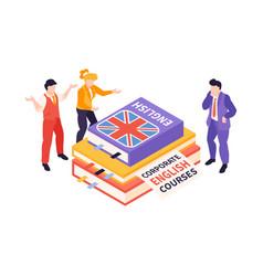 Corporate english courses composition vector