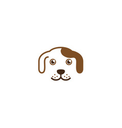 Creative dog pet head logo vector
