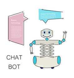 cute chat bot vector image