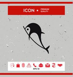 dolphin icon vector image vector image