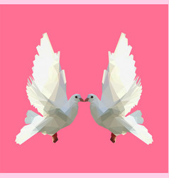 dove in lowpoly vector image