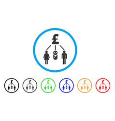 Family pound budget rounded icon vector