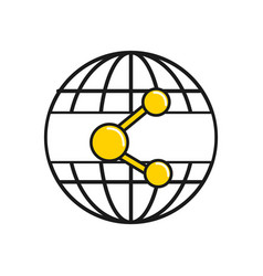 Figure global digital share service connect vector