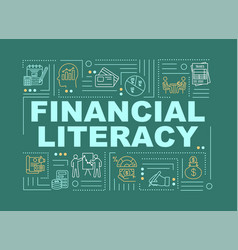 Financial literacy word concepts banner vector