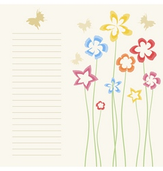 Flower a background2 vector