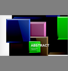 Geometric abstract background modern square vector