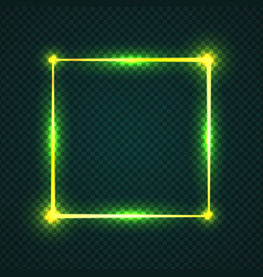 glowing effect rectangle stroke with isolated vector image