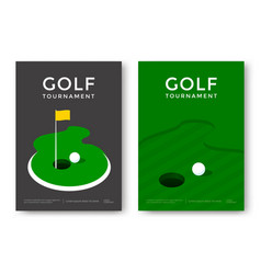 Golf poster design vector