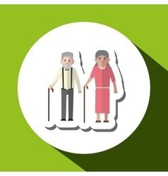 Grandparents graphic vector