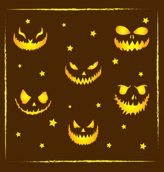 happy halloween scary and spooky drawing for socia vector image