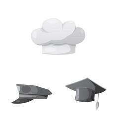 Headgear and cap sign vector