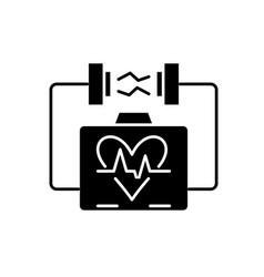 heart stimulation black icon sign on vector image