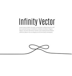Infinity in solid lines drawing continuous vector
