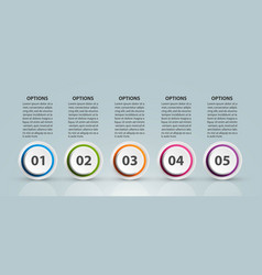 infographic design organization chart template for vector image