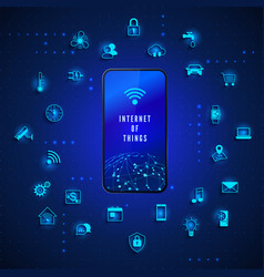 Internet things iot concept global network vector
